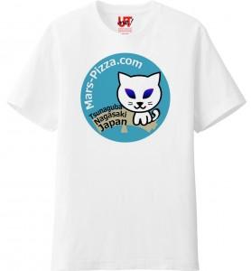 メンズ Tシャツ 火星ネコブルー
